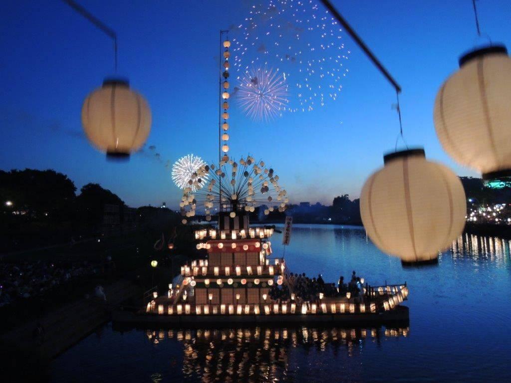 (写真)菅生祭 鉾船
