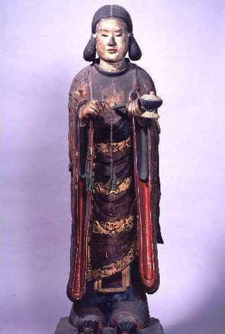 (写真)聖徳太子自作の孝養像