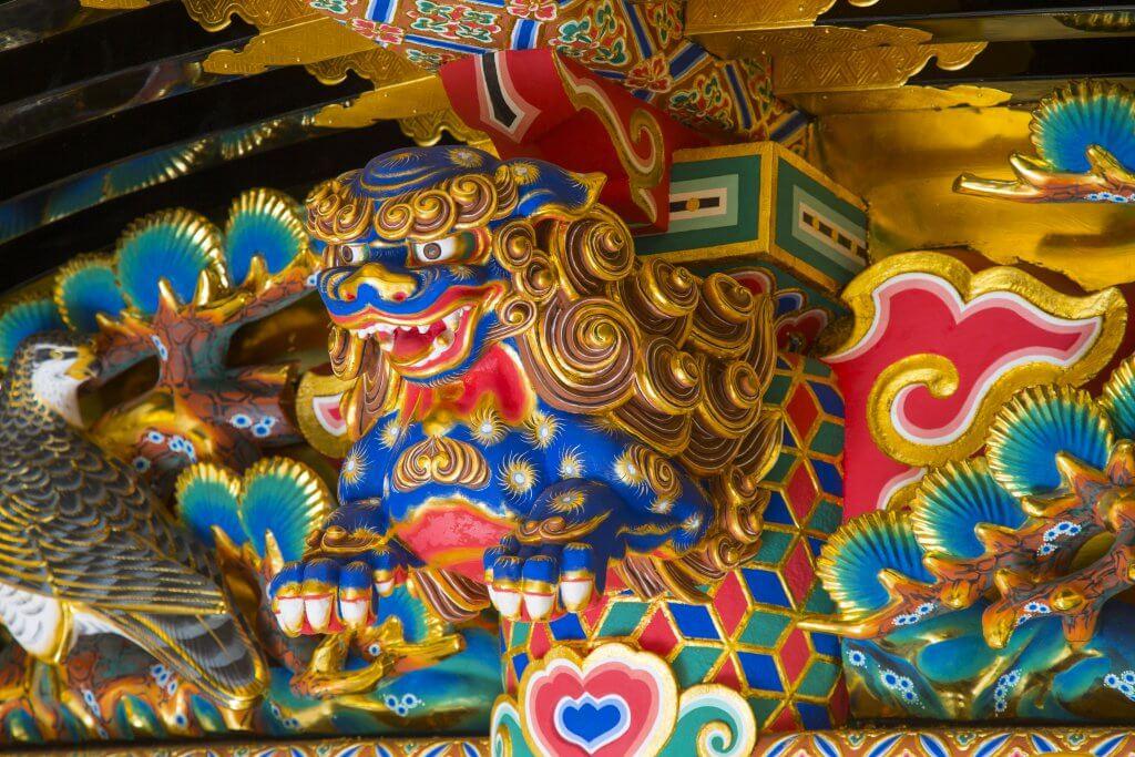 (写真)社殿の彫刻