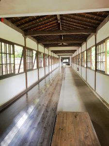 Each morning monks wax this floor by hand as part of their daily routine