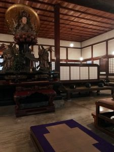 More of the room where we practiced zazen