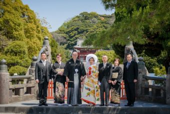 A traditional Shinto Wedding Ceremony