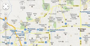 This a Standard Screenshot of Google Maps in Japan