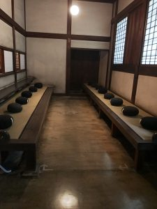 The room where the zazen took place