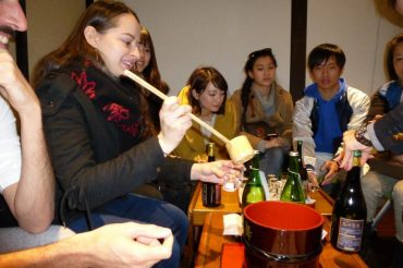Touring the Hana no mai Sake Brewery
